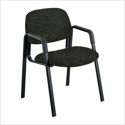 Safco Cava Urth Straight Leg Guest Chair in Black