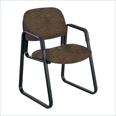 Safco Cava Urth Sled Base Guest Chair in Brown