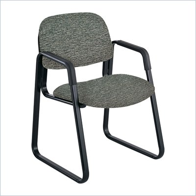 Safco Cava Urth Sled Base Guest Chair in Gray