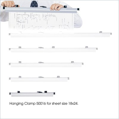 Safco 18&quot; Metal Hanging Files Clamp for 18&quot; x 24&quot; Sheet (Set of 6)