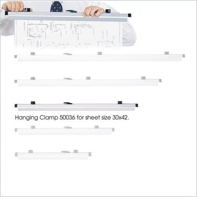 "Safco Metal Hanging Files Clamp for 30"" x 42"" Document (Set of 6)"