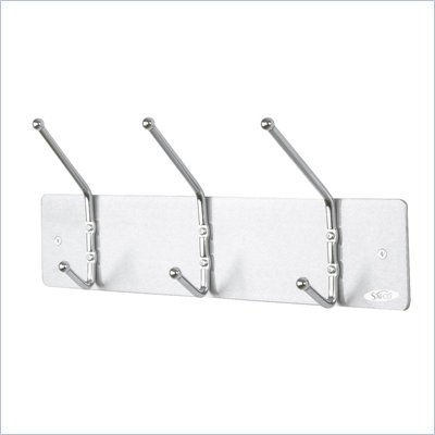 Safco 3 Hook Wall Coat Rack (Set of 12)