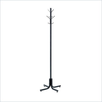 Safco Black Standing Coat Rack