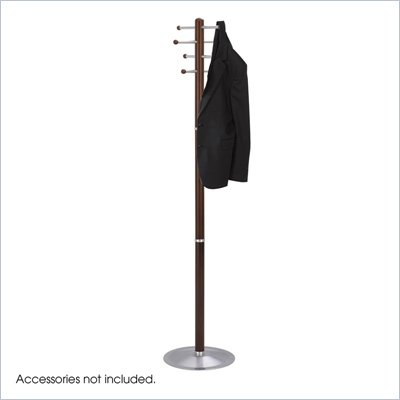 Safco Cherry Wood Standing Coat Rack