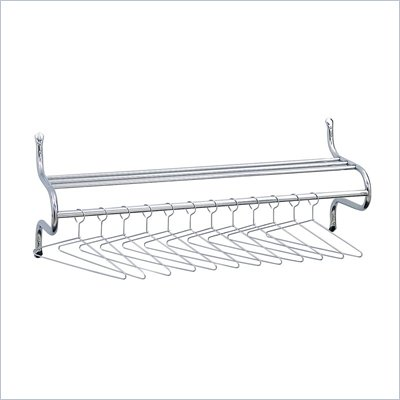 Safco 36&quot;W Wall Coat Rack with Hangers