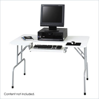 Safco Metal Folding Computer Table in Gray