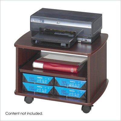 Safco Picco Duo Printer Cart in Mahogany