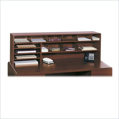 Safco 58&quot;W High Capacity Desk Top Organizer in Cherry