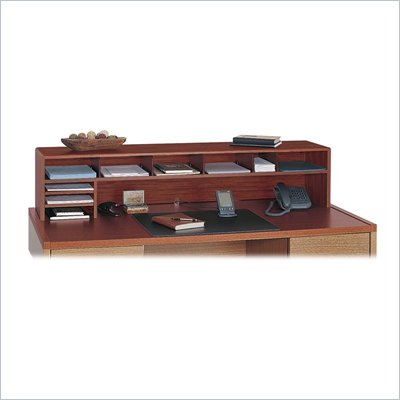 Safco 58&quot;W Low Profile Desk Top Organizer in Cherry