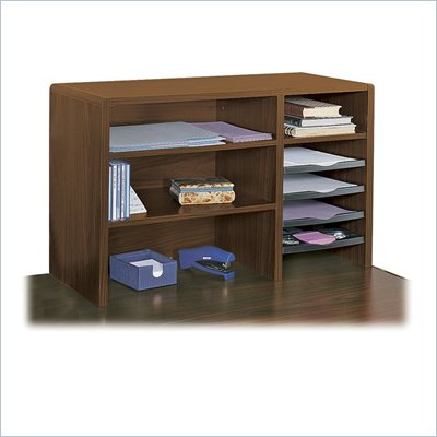 Safco 29&quot;W Compact Desk Top Organizer in Cherry
