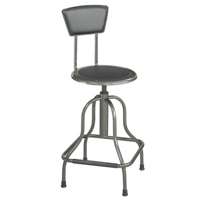 Safco Diesel Black High Base  Diesel Industrial Stool