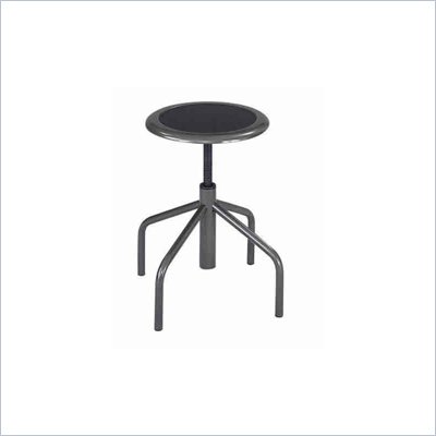 Safco Diesel Backless Low Base Industrial Chair in Black