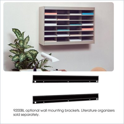 Safco E-Z Stor Black Wall Mounting Bracket for Mail Organizer