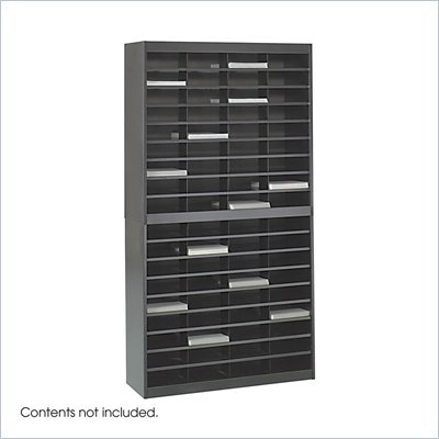 Safco E-Z Stor Black Mail Organizer, 72 Letter Size Compartments
