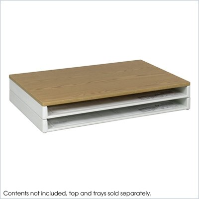 Safco Optional Oak Top for Giant Stack File Tray (39&quot; Wide)