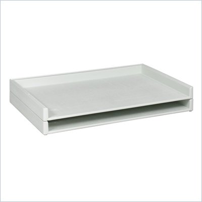"Safco Giant Stack Flat Files Plastic FileTray in White for 24""x 36"" Documents (Set of 2)"