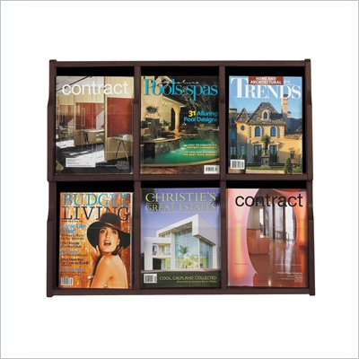 Safco Expose 6 Magazine 12 Pamphlet in Mahogany Finish