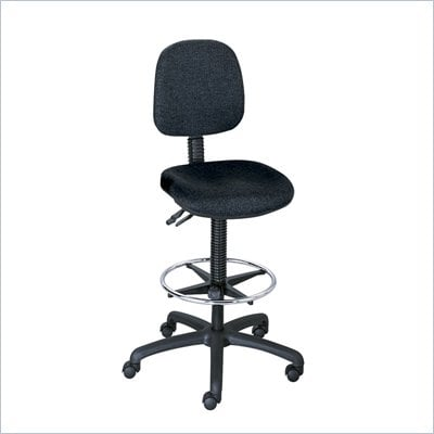 Safco Highland Extended Height Lab Chair in Black