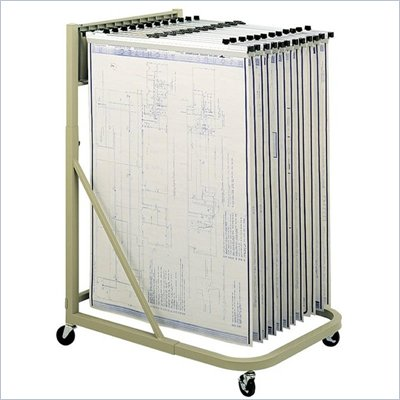 "Safco Mobile Hanging Files Metal Stand for 24"" Hanging Clamp with File Extension in Sand"