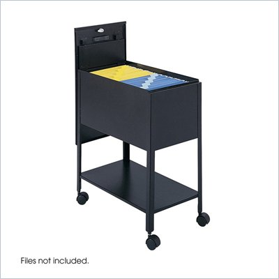 Safco Extra Deep Mobile Letter Size Tub File with Lock in Black