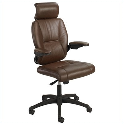 Safco Incite High Back Chair in Brown