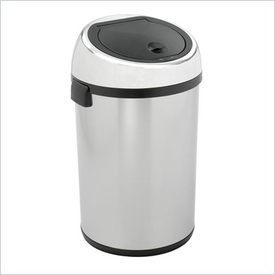 Safco Stainless Steel 17 Gallon Kazaam Trash Can