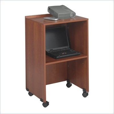 Safco Lectern Base/Media Cart in Cherry