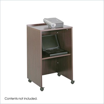 Safco Mahogany Lectern Podium Base/Media Cart