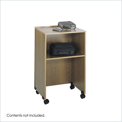 Safco Medium Oak Lectern Podium Base/Media Cart