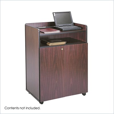 Safco Mahogany Executive Lectern Podium
