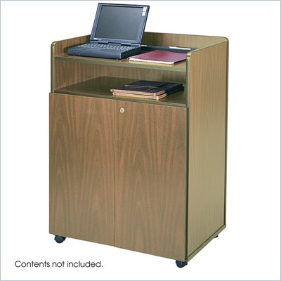 Safco Medium Oak Executive Lectern Podium
