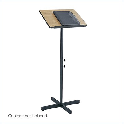 Safco Medium Oak Adjustable Lectern