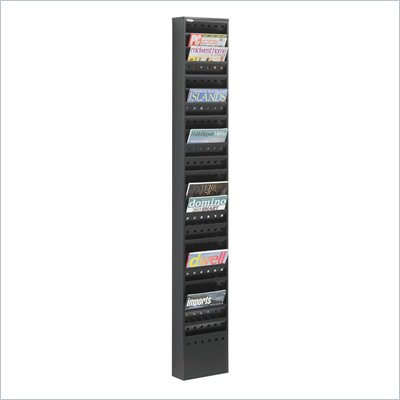 Safco 23-Pocket Steel Magazine Rack in Black