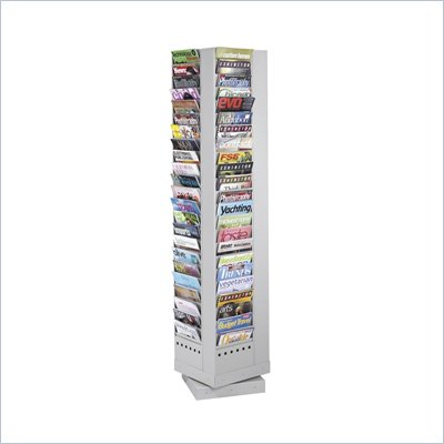 Safco 92-Pocket Steel Rotary Magazine Rack