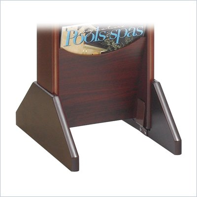 Safco Wood Display Base in Mahogany