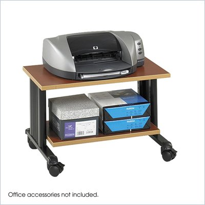 Safco M&#220;V 2 Level Adjustable Printer Stand in Cherry