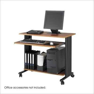 Safco M&#220;V 35&quot; Fixed Height Wood Workstation in Cherry
