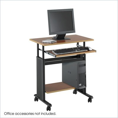 Safco M&#220;V 28&quot; Height Adjustable Metal / Wood Workstation in Cherry
