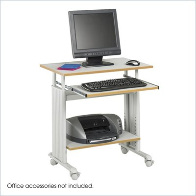 Safco M&#220;V 28&quot; Height Adjustable Wood Workstation in Gray