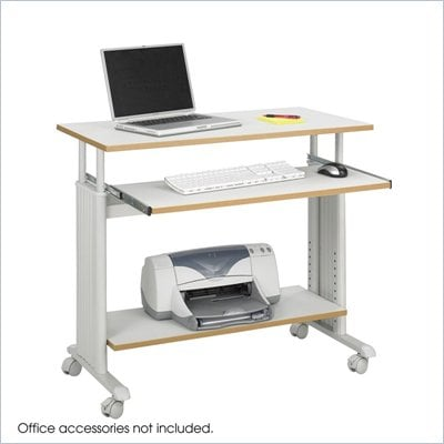 Safco M&#220;V 35&quot; Height Adjustable Wood Workstation in Gray