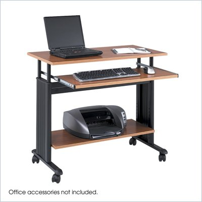 Safco M&#220;V 35&quot; Height Adjustable Wood Workstation in Medium Oak