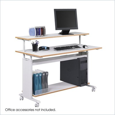 Safco M&#220;V Extra Wide Wood Workstation in Gray