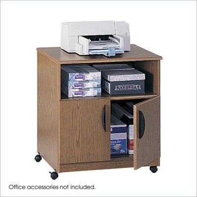 Safco Mobile Stand in Medium Oak