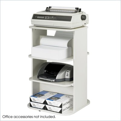 Safco Rotating Double Printer Stand in Gray