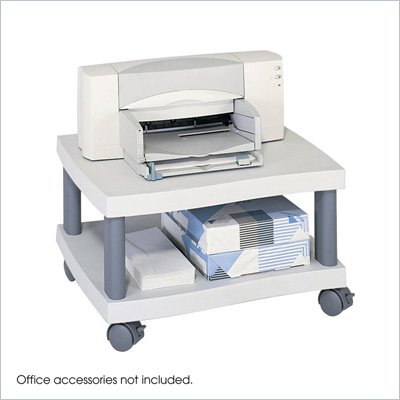 Safco Underdesk Wave Printer Stand in Gray