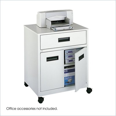 Safco Machine Stand with Drawer in Gray