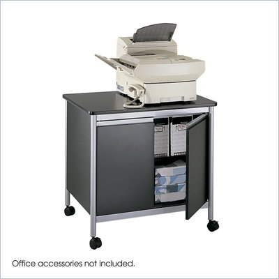 Safco Deluxe Machine Stand in Black