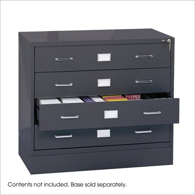 Safco Computer Multi-Media Cabinet in Charcoal
