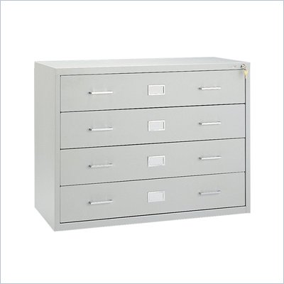 Safco Computer Multi-Media Cabinet in Light Gray