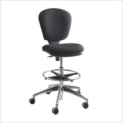 Safco Metro Extended Height Drafting Chair in Dark Gray